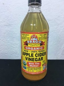 Apple cider vinegar in Nigeria. It is a remedy for typhoid