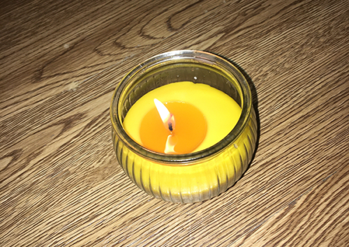beeswax candle can help at harmattan