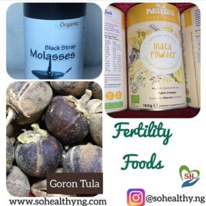 Fertility boosting foods pack