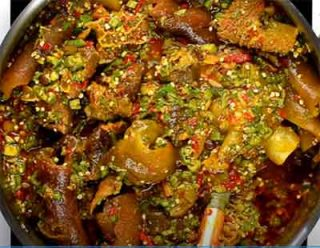 Okro Soup for rice