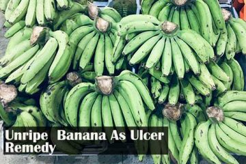 unripe banana as remedy for stomach ulcer